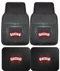 Mississippi State Bulldogs Car Mats 4 Pc Front & Rear Heavy Duty Vinyl
