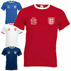 England National Football Team Ringer T-Shirt Euro 2016 Supporters Mens Gift Top