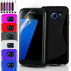 ULTRA SLIM SILICONE GEL CASE COVER & FREE SCREEN PROTECTOR FOR VARIOUS PHONES