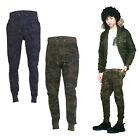 Brave Soul Spike Mens Joggers New Camouflage Print Skinny Fit Gym Running Pants