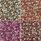 Super Bunched Ditsy Floral Flowers 100% Viscose Print Fabric 140cm Wide