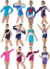 Gymnastics Leotards Lycra Velvet Metallic Gym Leotard Girls Dance Show Unitard...