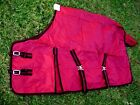 640D Turnout Water Resistant Winter Horse SHEET Light Blanket Burgundy 910