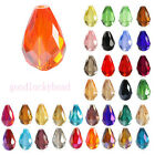 20Pcs Faceted Teardrop Crystal Loose Spacer Glass Beads Fit Jewelry 8*12/16*10mm