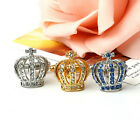 1Pair Crown Crystal Silver Mens Wedding Party gift shirt cufflinks cuff New