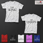 The King / His Queen Premium Quality T-Shirts ALL SIZEs AND COLOURS AVAILABLE