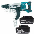MAKITA 18V LXT DFR750Z SCREWDRIVER & 2 x BL1840 BATTERIES FUEL CELL INDICATOR