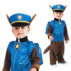 Official Paw Patrol Chase Fancy Dress Costume Boys Cartoon Police Dog Outfit
