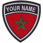 MOROCCO CUSTOM CREST FLAG NAME EMBROIDERED PATCH