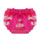 Baby Infant Girls Satin Frill Ruffle Bloomer Pants Lace Tutu Shorts Diaper Cover