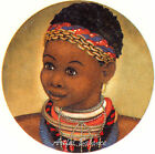 Ceramic Decals African American Girl Traditional Dress image