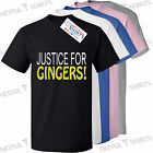 Justice for GINGERS funny T SHIRT New Kids t shirts novelty gifts 5-13 years