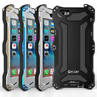 IP68 R-JUST Waterproof Shockproof Metal Gorilla Glass Case Cover for iPhone 6 6s