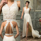 Lace Ladies Long Maxi Wedding Evening Gown Ball Formal Party Prom Cocktail Dress