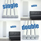 White Vertical Designer Radiators Tall Oval Modern Column Panel Central Heating