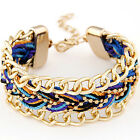 Jewelry DIY Multilayer Infinity Charm Bracelet Cuff Alloy Bangle Chain Gift RE