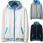 Mens Napping Hoodie Jacket Cardigan Sweater Jumper Blazer Top Zip-Up W209 - S/M