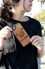 Natural Wood Case. iPhone Case. Samsung Galaxy Case. Cherry Wood. Pug Life