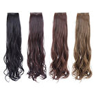 2 Clip Girl Long Curly Ponytail Hair Colorful Ladies Hairpiece Wigs