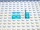 LEGO 4865 30010 Qty. 2 Plate 1x2x1 Wall Panel or Window Choose Your Color