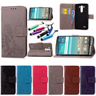 New Fashion Leather Card Holder Wallet Flip Cover Stand Case For LG Phone+Gift