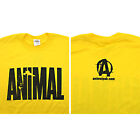 Universal Nutrition Animal Pak T Shirt  Bodybuilding TEE SHIRT  Yellow