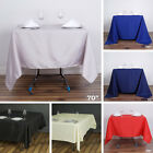 """12 pcs 70"""" SQUARE POLYESTER TABLECLOTH Wedding Cocktail Party Catering Linens"""