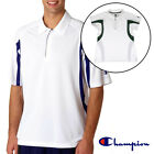 Women's or Men's Champion Double Dry Polo Shirt Golf Tennis White Color Block