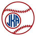Two Color Baseball Monogram Decal Sticker - CHOOSE A SIZE