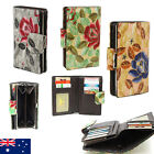 Pattern Genuine Leather Ladies Womens Wallet Purse Coins Card Holder Floral
