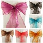 ORGANZA SASHES CHAIR COVER BOW WIDER SASH FOR FULLER BOW WEDDING PARTY