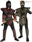 Childrens Skull Warrior Costume Boys Ninja Halloween Fancy Dress Kids Outfit