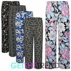 Womens New Floral Printed Palazzos Ladies Summer Baggy Flared Pants Palazzo