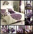 New Purple Aubergine Duvet Quilt Cover with Pillow Cases Print Bed Set All Sizes