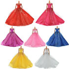 Wedding Dress for Barbies Doll Beautiful Trailing Skirt 7 Colors EW