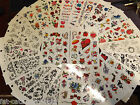 5x SHEETS 13x19cm GIRLS TEMPORARY TATTOOS 10-20 ROSES HEARTS FLOWERS BUTTERFLIES