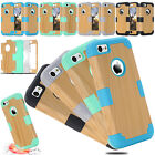 Defender Shockproof Hybrid Silicone Phone Case Cover For iPhone 6 6S 5S SE 5C