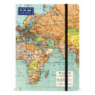 Cavallini - Large Lined Notebook - World Map - 6x8ins - 144 Pages w/Elastic Enc