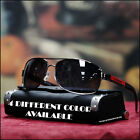 NEW MENS AVIATOR SUNGLASSES TRENDY BIKING DRIVING SPROTS METAL 4 COLORS SHADES