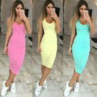 Womens Slim Sexy Bandage Bodycon Dress Ladies Party Pencil Dress Midi Dress NEW