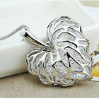 Hotest Women Elegant Hollow Love Heart Leaf Long Chain Sweater Necklaces Pendant
