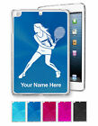 Personalized Case For iPad Mini 1/2/3 - Tennis Player Woman, Racquet, Playing