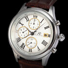 Luxury KS Men's Crystal Case Automatic Mechanical Leather Wrist Watch