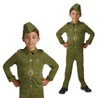 Rubies Childs WW2 Soldier Army Uniform 1940S Outfit New Kids Fancy Dress Costume
