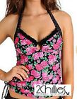 NEW Ladies 2 Chillies Tankini Top Frilled Ring Front Sizes 8-16