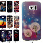 Patterned ultrathin Rubber Hybrid Soft TPU Cover Case Skins For Samsung Galaxy