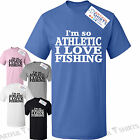 I'm so Athletic i love Fishing Kids T-Shirt New cotton top gifts size 5-13 years