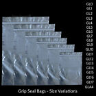 Grip Lock Bags Self Sealable Reseal Grip Poly Plastic Clear Zip Seal [All Sizes]