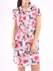 New Womens Ladies Pink Blush Button Roll up Long Top Shirt Dress Plus Size 8-24