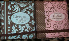 2- (Two) FABRIC PURSE NOTES PAD & PEN SETS WITH SCRIPTURE NEW- Brownlow
